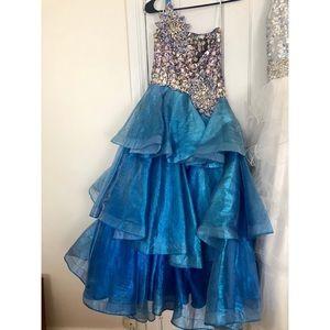 Sugar by Mac Duggal Little Girls Pageant Dress